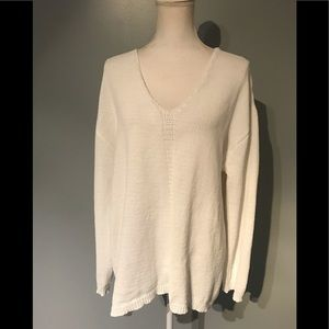 Philosophy white v neck sweater
